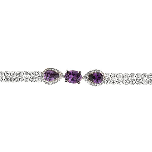 bracelet femme argent zirconium 9500423 pic2