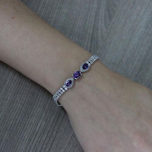bracelet femme argent zirconium 9500423 pic4