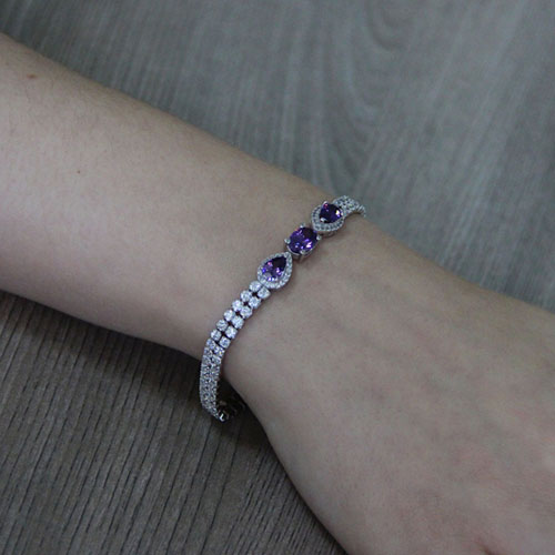 bracelet femme argent zirconium 9500423 pic5