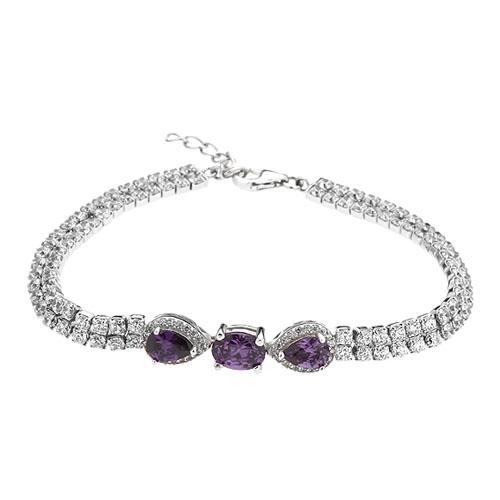 bracelet femme argent zirconium 9500423