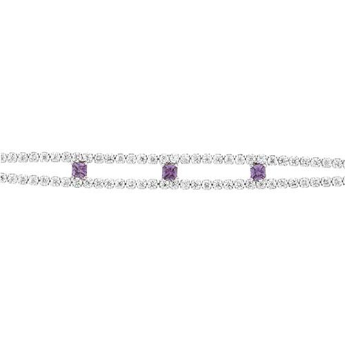 bracelet femme argent zirconium 9500424 pic2