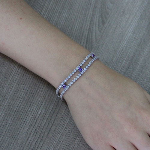 bracelet femme argent zirconium 9500424 pic4