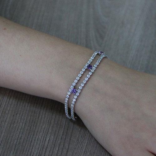 bracelet femme argent zirconium 9500424 pic5
