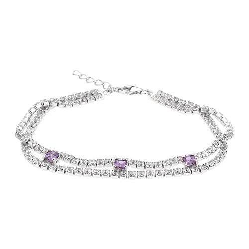 bracelet femme argent zirconium 9500424