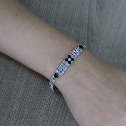 bracelet femme argent zirconium 9500425 pic4