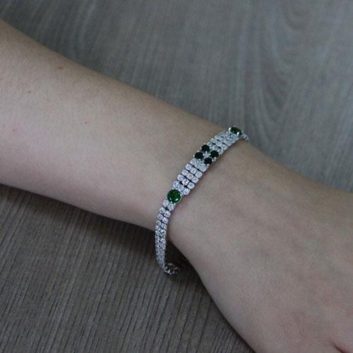 bracelet femme argent zirconium 9500425 pic5