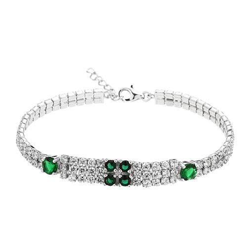 bracelet femme argent zirconium 9500425