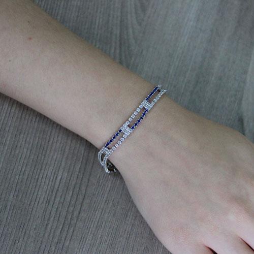 bracelet femme argent zirconium 9500426 pic4