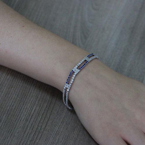 bracelet femme argent zirconium 9500426 pic5
