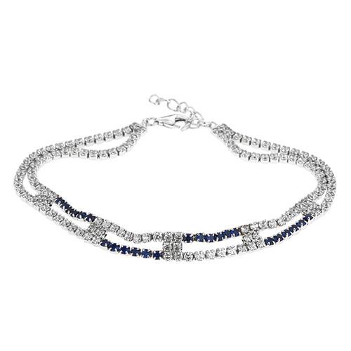 bracelet femme argent zirconium 9500426