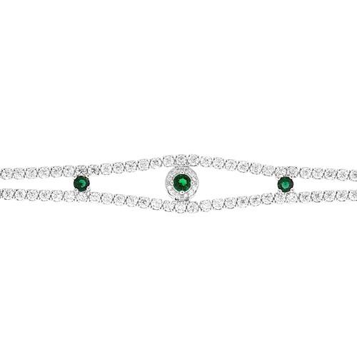 bracelet femme argent zirconium 9500427 pic2