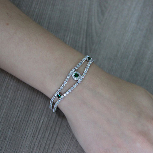 bracelet femme argent zirconium 9500427 pic4