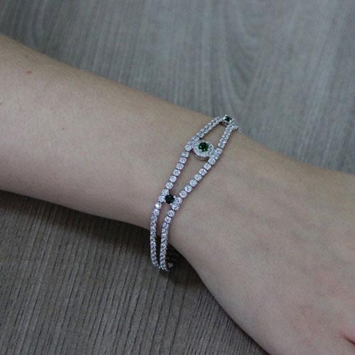 bracelet femme argent zirconium 9500427 pic5