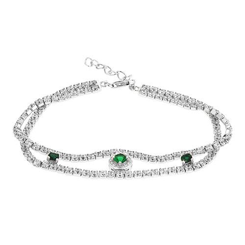 bracelet femme argent zirconium 9500427