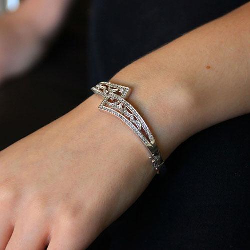 bracelet femme argent zirconium 9600100 pic4