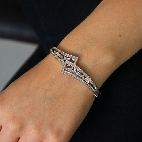 bracelet femme argent zirconium 9600100 pic5