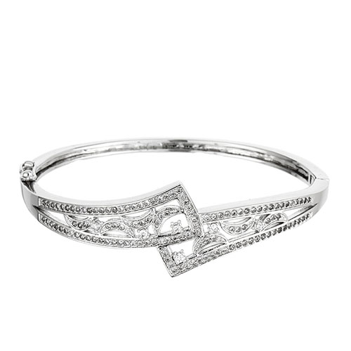 bracelet femme argent zirconium 9600100