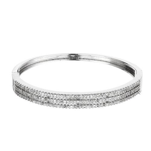 bracelet femme argent zirconium 9600101