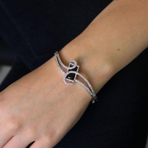 bracelet femme argent zirconium 9600102 pic4