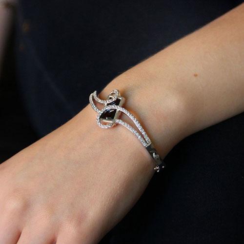 bracelet femme argent zirconium 9600102 pic5