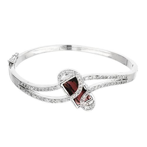 bracelet femme argent zirconium 9600102