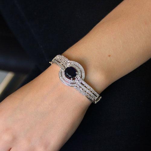 bracelet femme argent zirconium 9600103 pic4