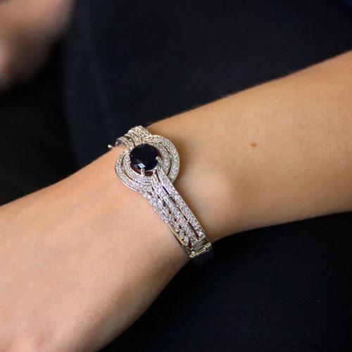 bracelet femme argent zirconium 9600103 pic5