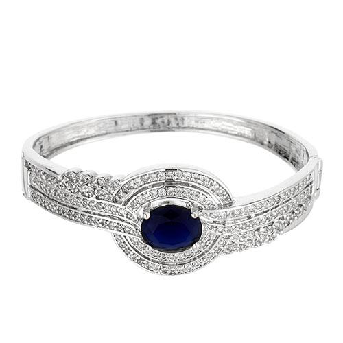bracelet femme argent zirconium 9600103