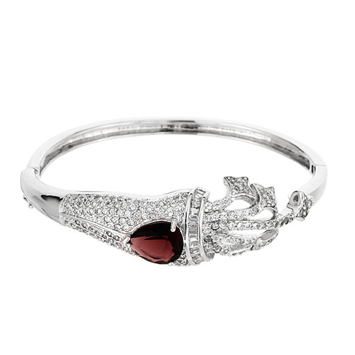 bracelet femme argent zirconium 9600104