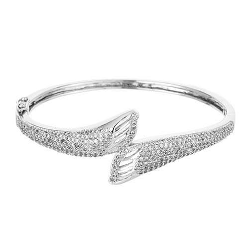 bracelet femme argent zirconium 9600105