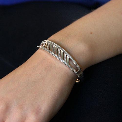bracelet femme argent zirconium 9600106 pic5