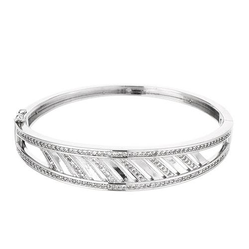 bracelet femme argent zirconium 9600106