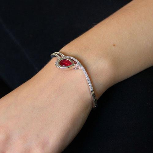 bracelet femme argent zirconium 9600107 pic5