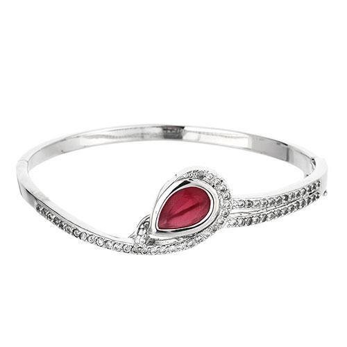 bracelet femme argent zirconium 9600107