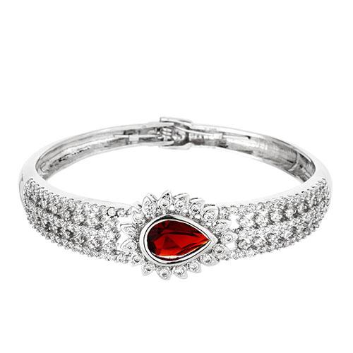 bracelet femme argent zirconium 9600108