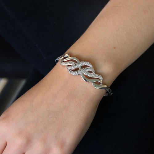bracelet femme argent zirconium 9600109 pic4