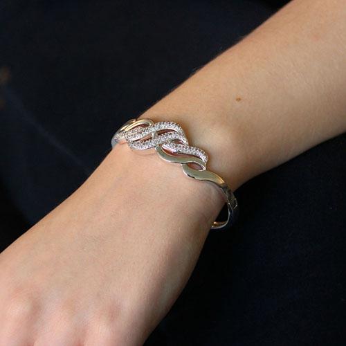 bracelet femme argent zirconium 9600109 pic5