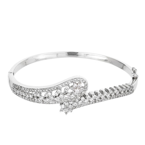 bracelet femme argent zirconium 9600110