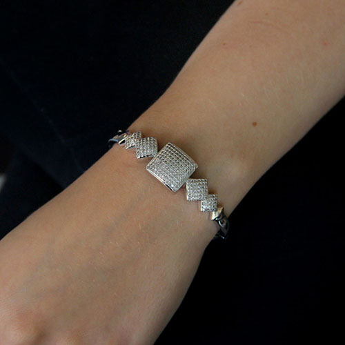 bracelet femme argent zirconium 9600111 pic4
