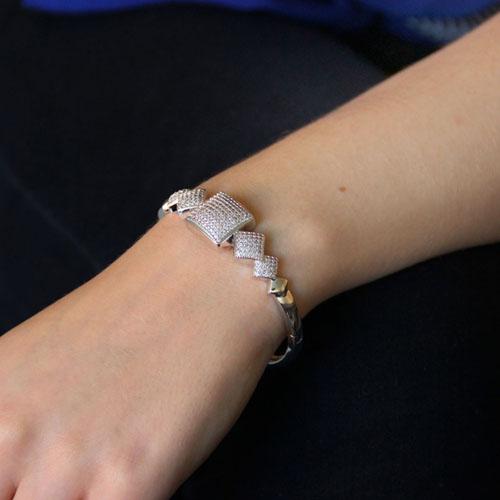 bracelet femme argent zirconium 9600111 pic5