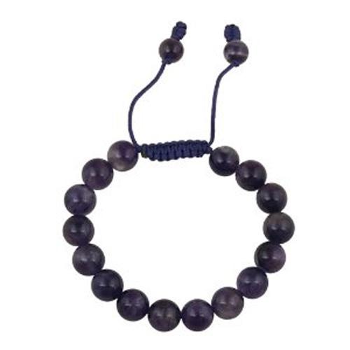 bracelet perles amethyste 1602