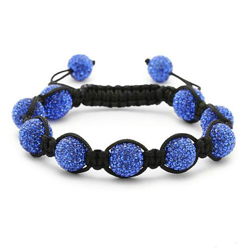 bracelet perles cristal bleu 1552