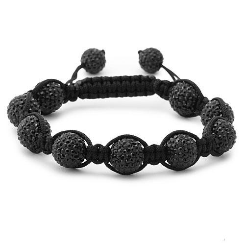 bracelet perles cristal noir 1554