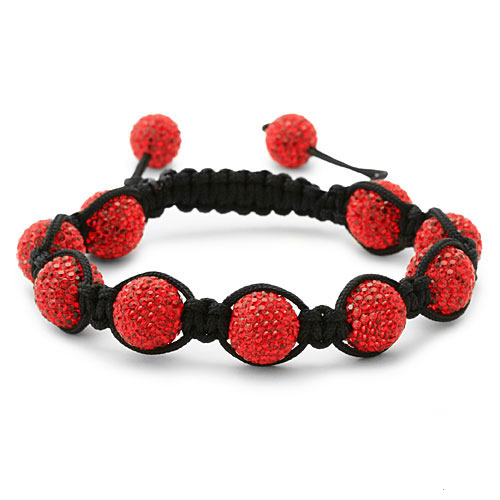 bracelet perles cristal rouge 1551