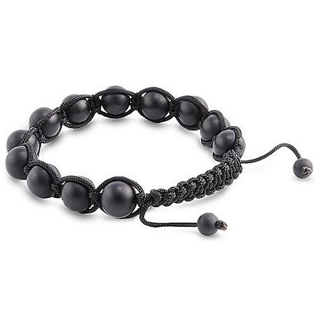 bracelet perles matt noir 1598