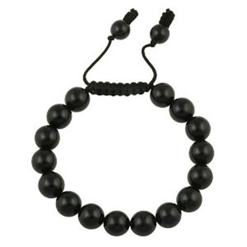 bracelet perles matt noir 1604