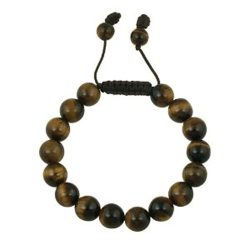 bracelet perles tiger eye 1601