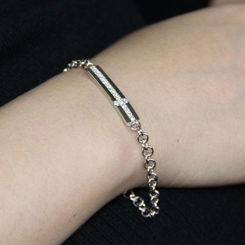 bracelet unisex argent zirconium 9500085 pic4