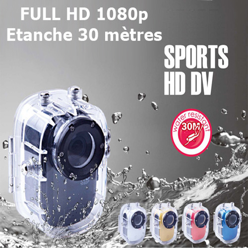 camera etanche 30m FULL HD CAMSPRFHDE