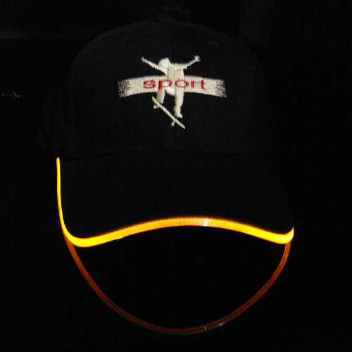 casquette lumineuse led style neon pic3